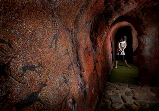 Inside the cave at Jambo Adventure Golf