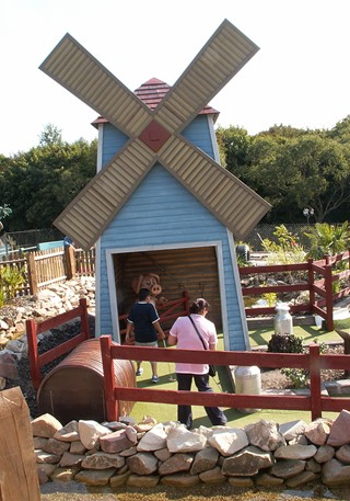 Large windmill at the Adventure Golf