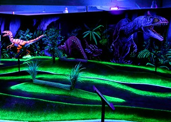 Dinosaurs at Husum Adventure Golf