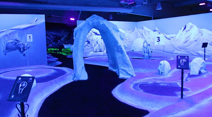 Winter black light golf