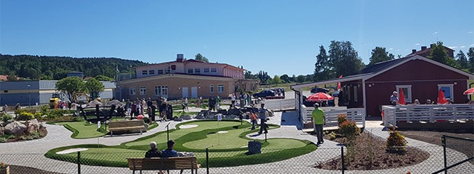 The adventure golf in Sundsvall had many players at the premiere
